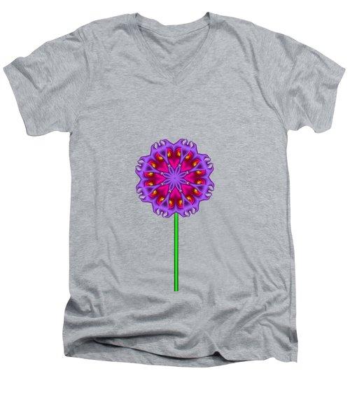 Fractal Flower Garden Flower 01 Men's V-Neck T-Shirt