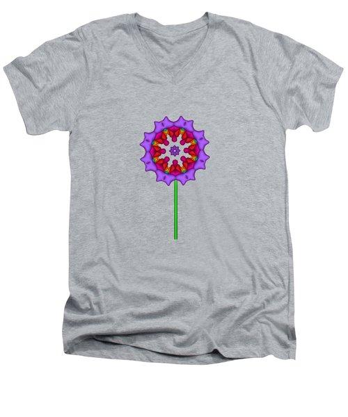 Fractal Flower Garden Flower 02 Men's V-Neck T-Shirt