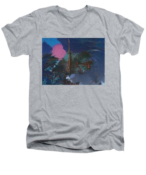 Fractal Sunset Men's V-Neck T-Shirt