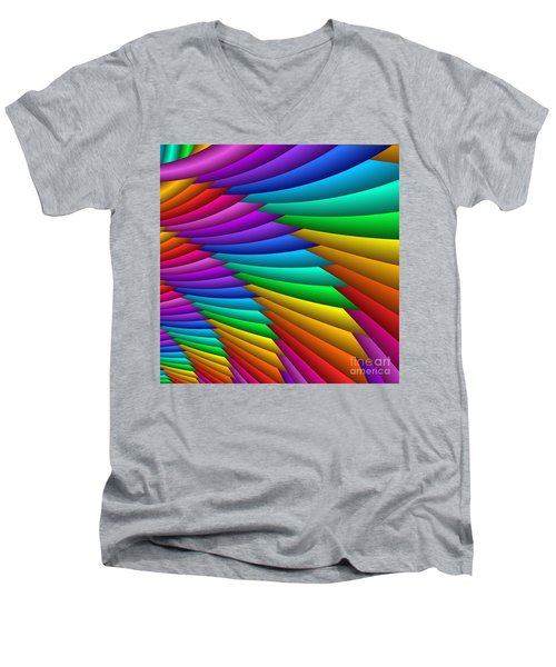 Fractalized Colors -8- Men's V-Neck T-Shirt