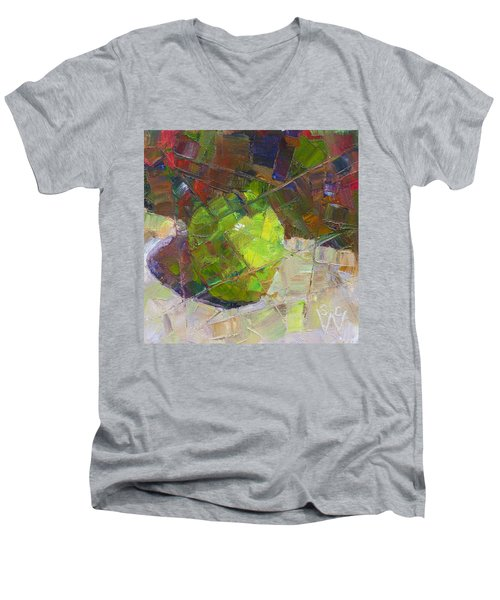 Fractured Granny Smith Men's V-Neck T-Shirt by Susan Woodward