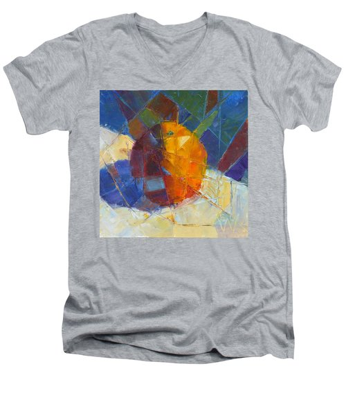 Fractured Orange Men's V-Neck T-Shirt