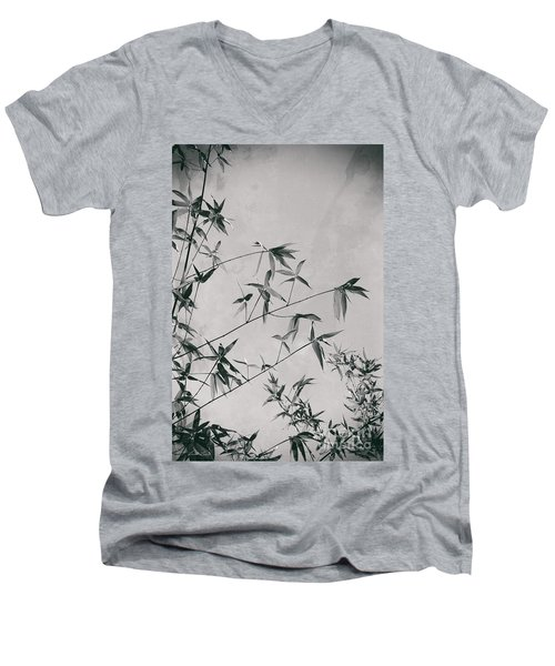 Men's V-Neck T-Shirt featuring the photograph Fragility And Strength by Linda Lees