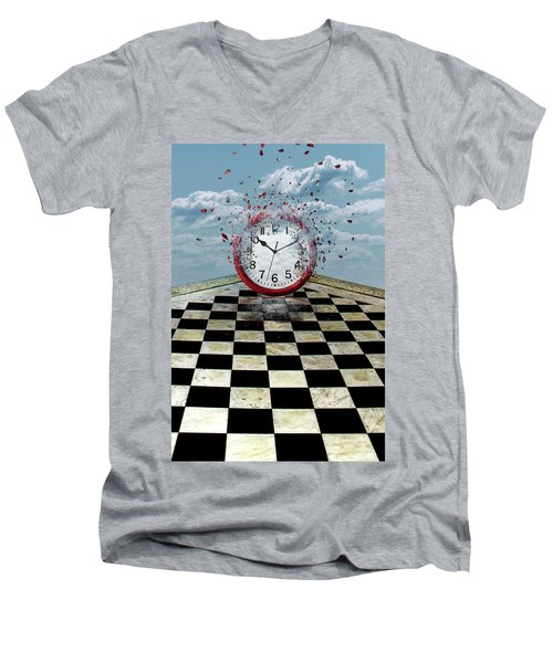 Fragments Of Time Men's V-Neck T-Shirt