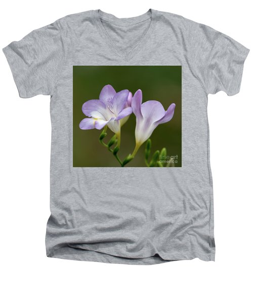 Fragrant Freesias 2 Men's V-Neck T-Shirt