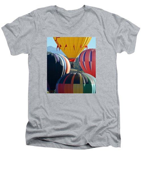 Framed Men's V-Neck T-Shirt by Kevin Munro