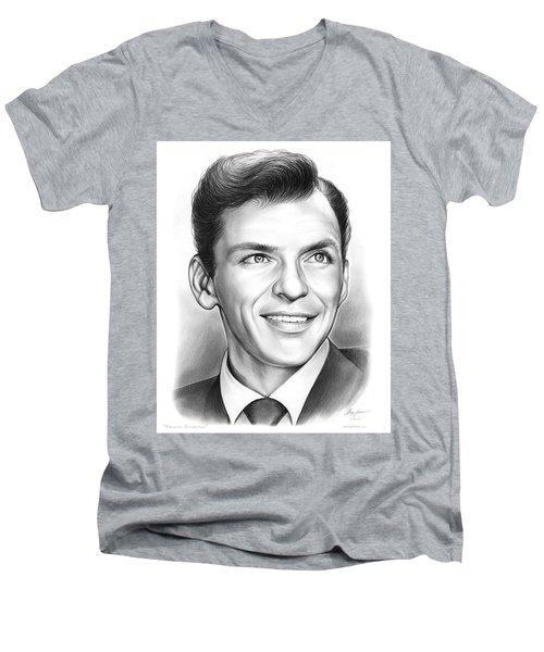 Frank Sinatra Men's V-Neck T-Shirt by Greg Joens