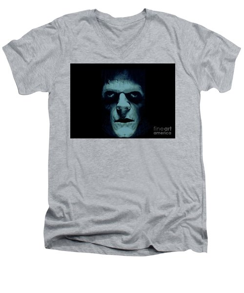 Men's V-Neck T-Shirt featuring the photograph Frankenstein by Janette Boyd