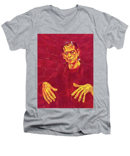 Frankenstein's Monster 1931 Men's V-Neck T-Shirt