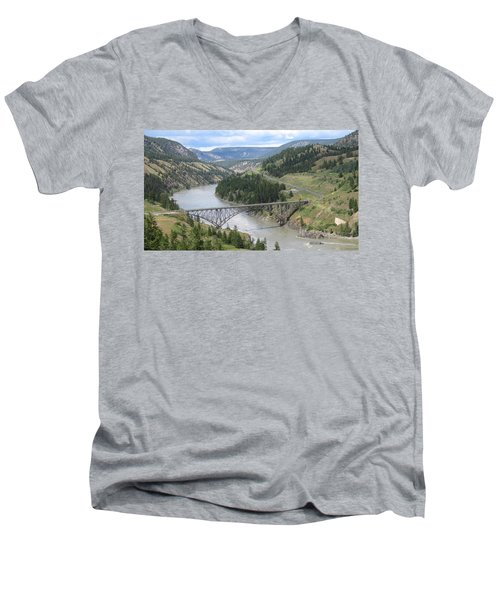 Fraser River Bridge Near Williams Lake Men's V-Neck T-Shirt