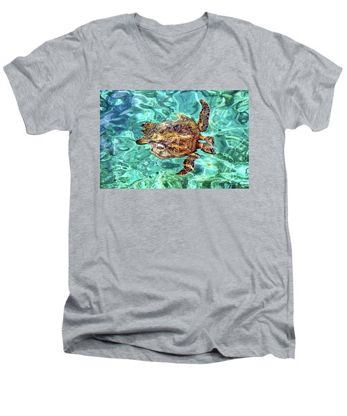 Freaky Men's V-Neck T-Shirt by David Lawson