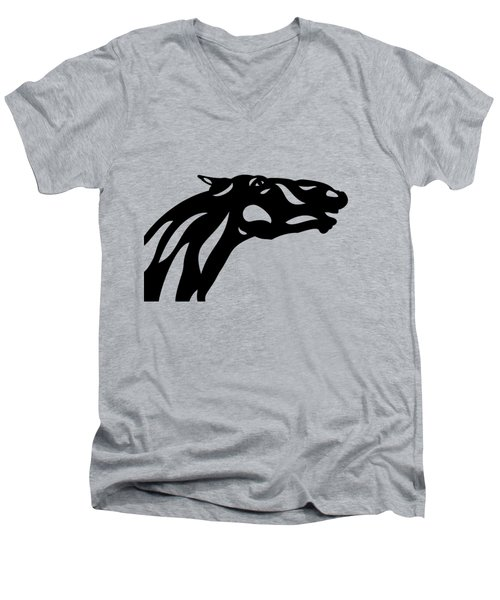 Fred - Abstract Horse Men's V-Neck T-Shirt
