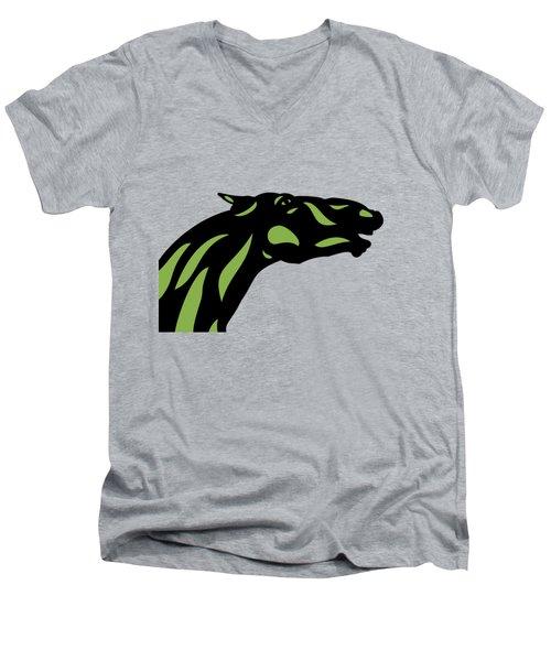 Fred - Pop Art Horse - Black, Greenery, Island Paradise Blue Men's V-Neck T-Shirt