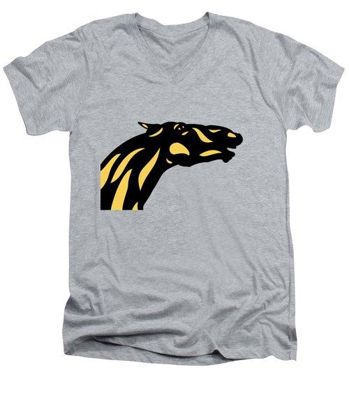 Fred - Pop Art Horse - Black, Primrose Yellow, Hazelnut Men's V-Neck T-Shirt