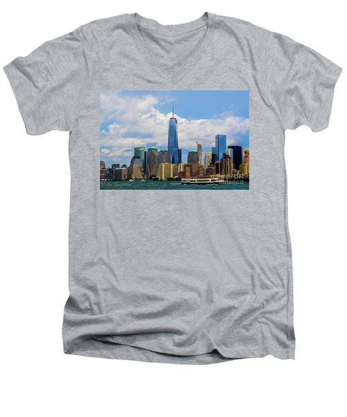 Freedom Tower Nyc Men's V-Neck T-Shirt