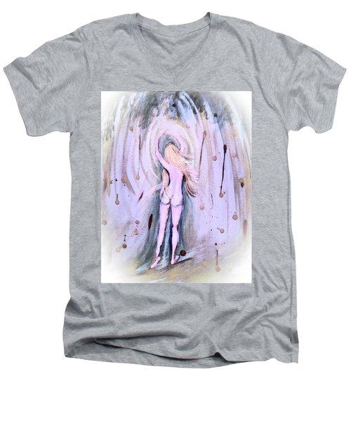 Free Girl Men's V-Neck T-Shirt