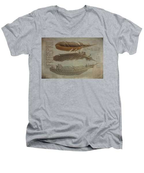 Free Spirit Men's V-Neck T-Shirt by Toni Hopper