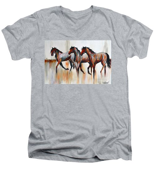 Free Spirits Men's V-Neck T-Shirt