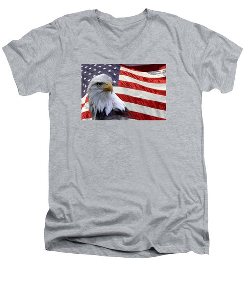 Men's V-Neck T-Shirt featuring the photograph Freedom by Ann Bridges