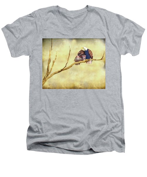 Men's V-Neck T-Shirt featuring the photograph Freedom by James BO Insogna