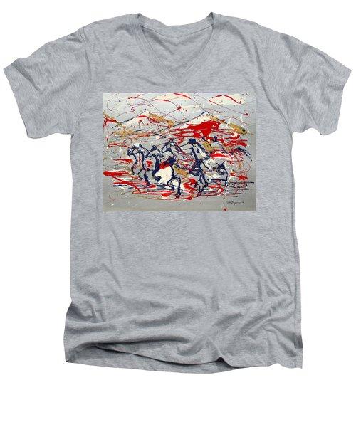 Freedom On The Open Range Men's V-Neck T-Shirt