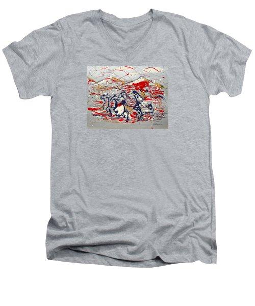 Freedom On The Range Men's V-Neck T-Shirt