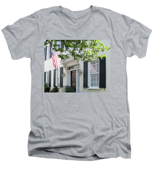 Freedom Reflected Men's V-Neck T-Shirt by Ed Waldrop