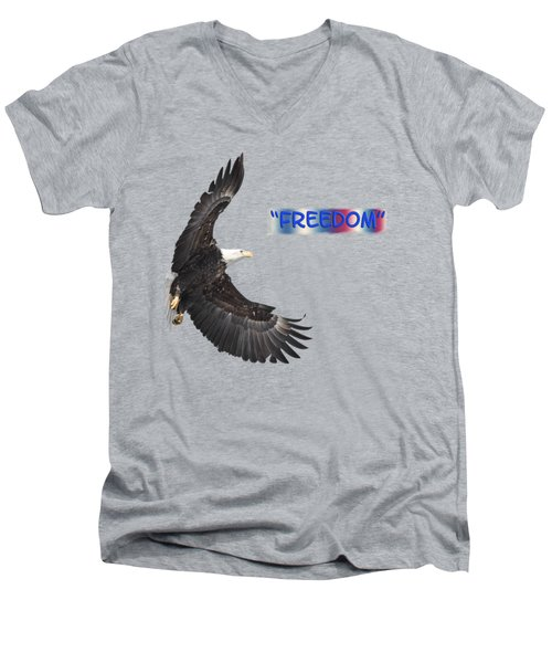 Freedom Men's V-Neck T-Shirt by Thomas Young