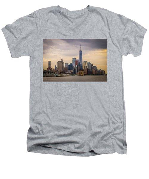 Freedom Tower - Lower Manhattan 2 Men's V-Neck T-Shirt