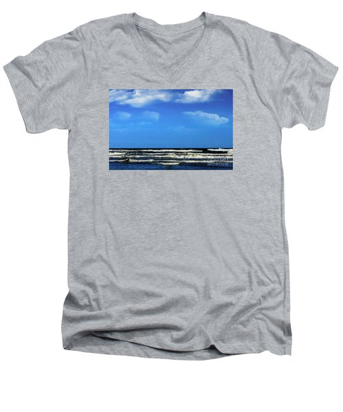 Freeport Texas Seascape Digital Painting A51517 Men's V-Neck T-Shirt