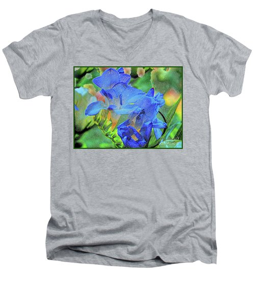 Freesia's Of Beauty Men's V-Neck T-Shirt