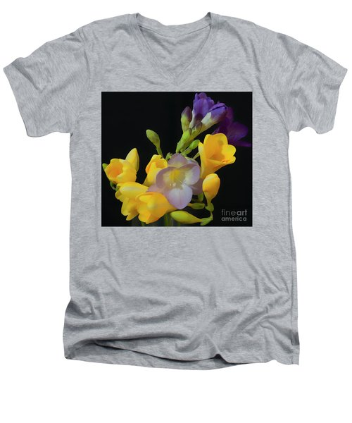 Freesias Softened 9 Men's V-Neck T-Shirt