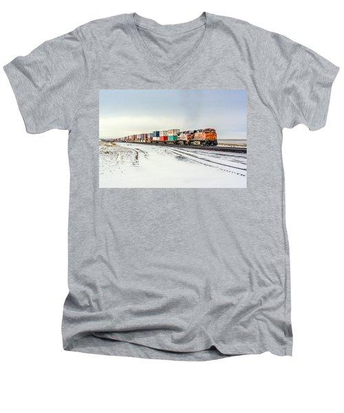 Freight Train Men's V-Neck T-Shirt