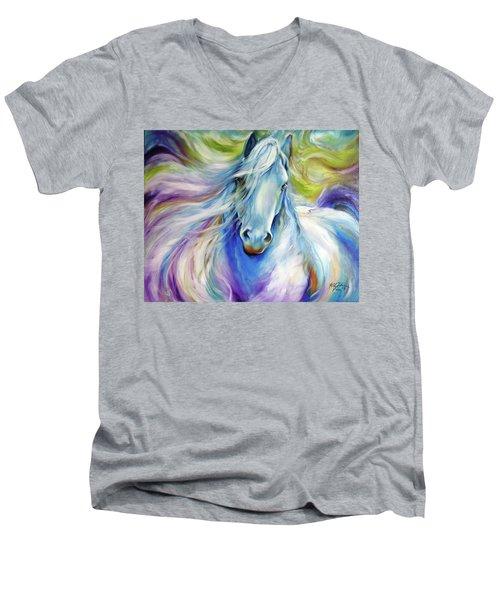 Freisian Dreamscape Men's V-Neck T-Shirt by Marcia Baldwin