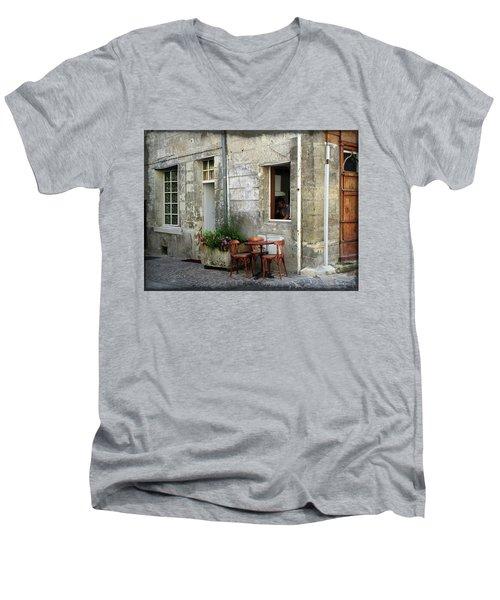 French Countryside Corner Men's V-Neck T-Shirt