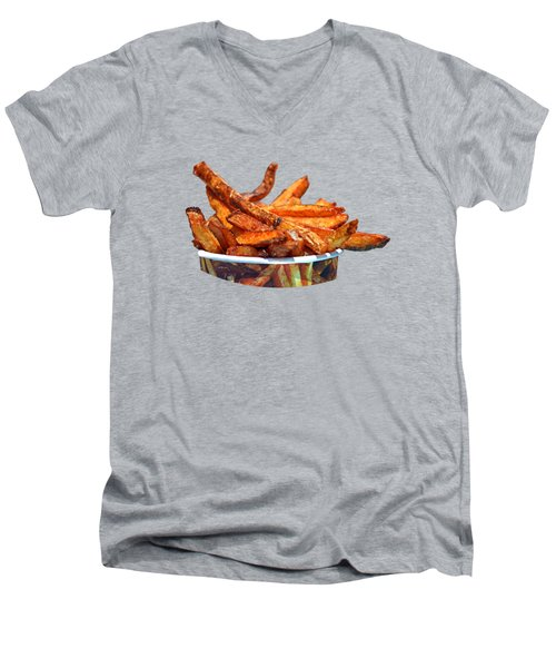French Fries On The Boards Men's V-Neck T-Shirt