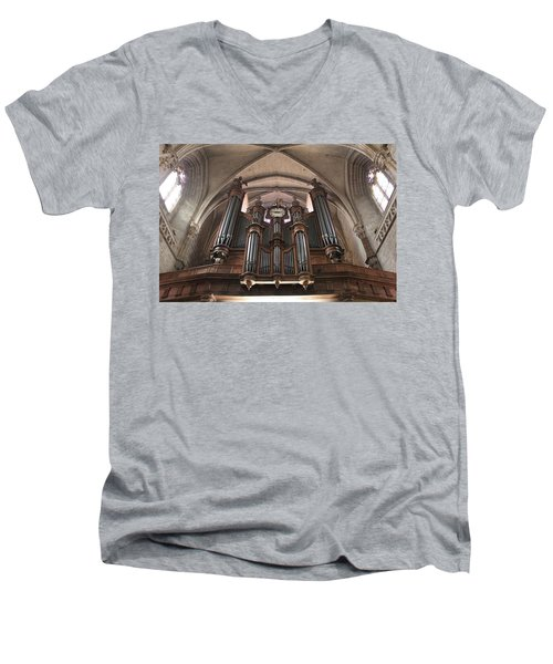 Men's V-Neck T-Shirt featuring the photograph French Organ by Christin Brodie