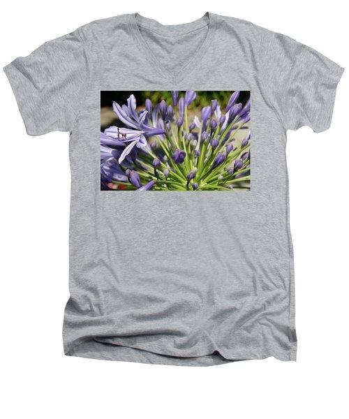 Men's V-Neck T-Shirt featuring the photograph French Quarter Floral by KG Thienemann