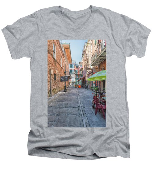 French Quarter Market Men's V-Neck T-Shirt