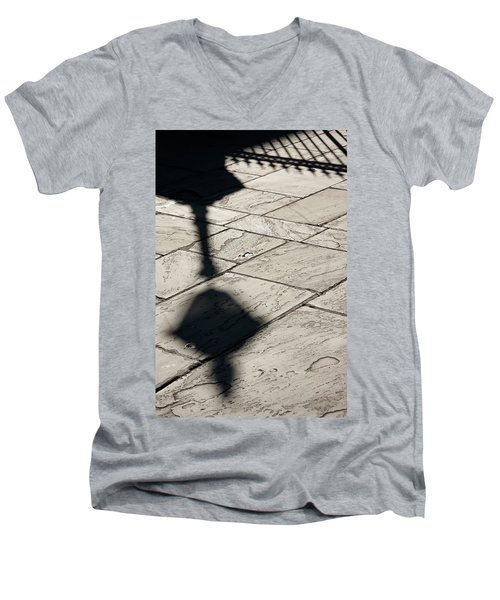 French Quarter Shadow Men's V-Neck T-Shirt