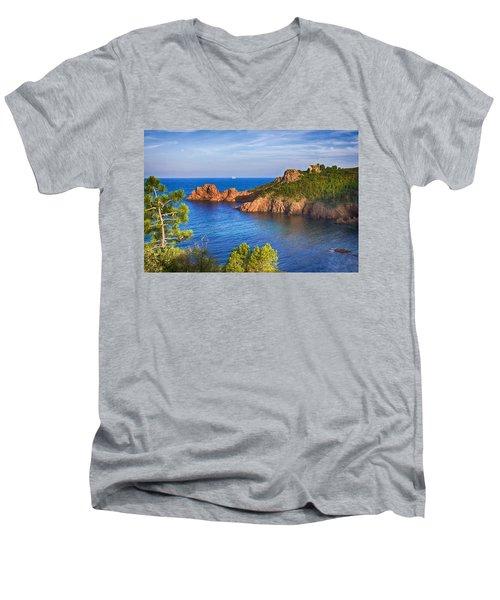 French Riviera 2 Men's V-Neck T-Shirt