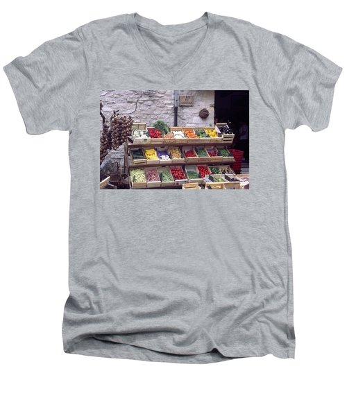 French Vegetable Stand Men's V-Neck T-Shirt