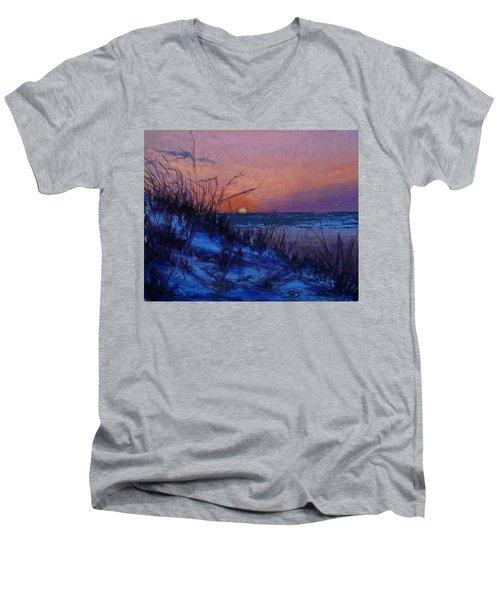 Frenchy's Sunset Men's V-Neck T-Shirt
