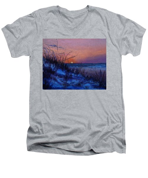 Frenchy's Sunset Men's V-Neck T-Shirt