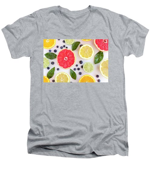 Fresh Citrus Fruits Men's V-Neck T-Shirt