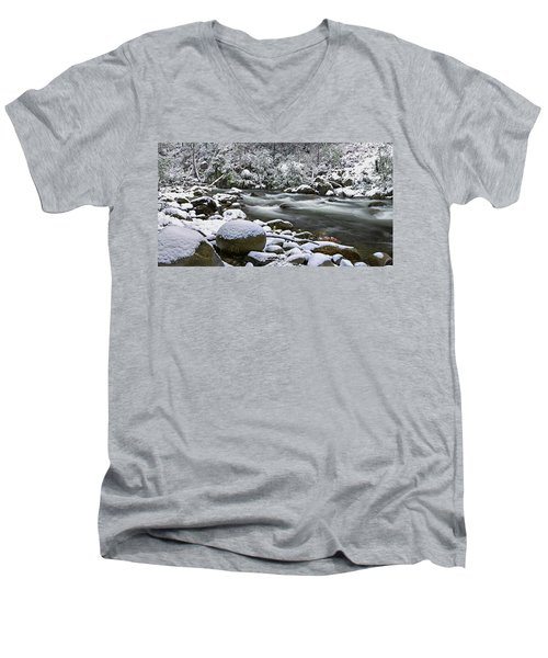 Fresh Men's V-Neck T-Shirt by Mark Lucey