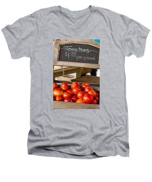 Fresh The Garden Tomatoes Men's V-Neck T-Shirt
