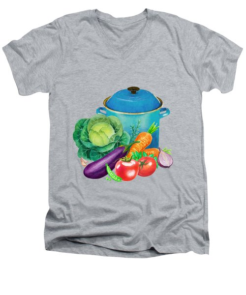 Fresh Vegetable Bounty Men's V-Neck T-Shirt by Little Bunny Sunshine