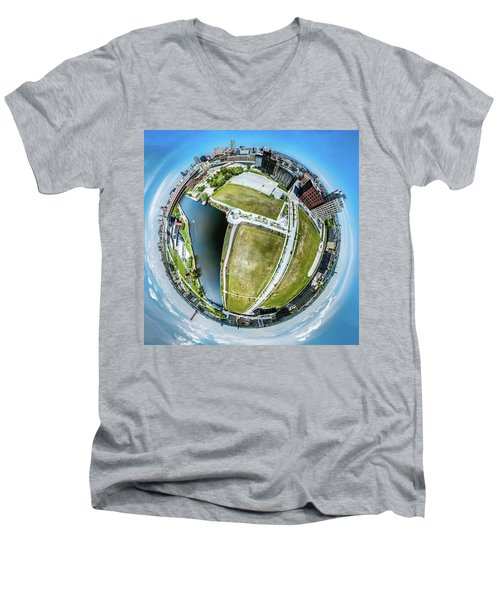 Freshwater Way Little Planet Men's V-Neck T-Shirt