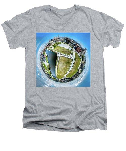 Freshwater Way Little Planet Men's V-Neck T-Shirt